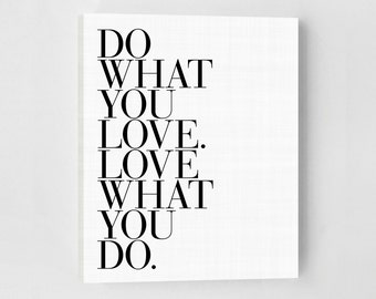 Do What You Love Canvas Quote, Inspirational Quote, Inspirational Wall Art, Inspirational Print, Inspirational Quote Print, Bedroom Wall Art