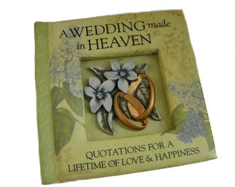Miniature Book - A Wedding Made In Heaven, small book, miniature book collector gift, book wedding favor, love quotes, history & heraldry