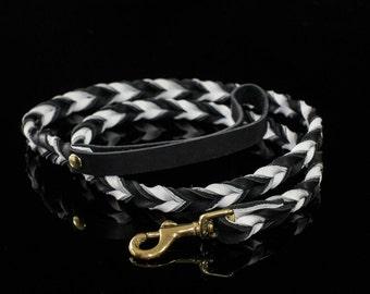Leather Dog Leash, leather leash, braided leather leash, braided leash, braided dog leash, custom leash, custom dog leash, dog lead