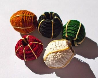 Barkcloth Medium Beads - Fair Trade from Mzuribeads Uganda - Pack of 3 Beads Size 2cm approx