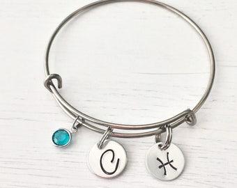 Pisces jewelry - Zodiac jewelry - Pisces pendant - Astrology jewelry - Pisces charm - Pisces - Birthday gift - Pisces zodiac -