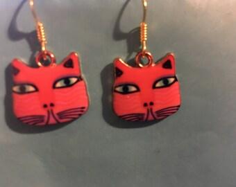 Cat Earrings   P16