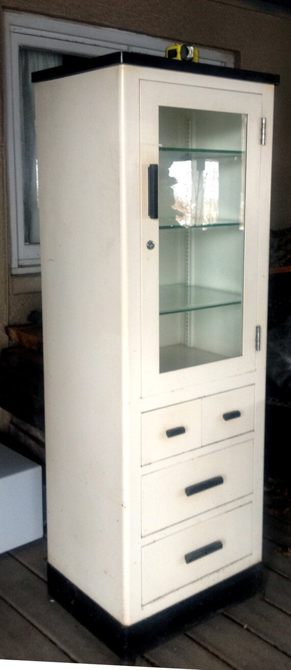 - Vintage Medical Cabinet By Max Wocher & Son Co.
