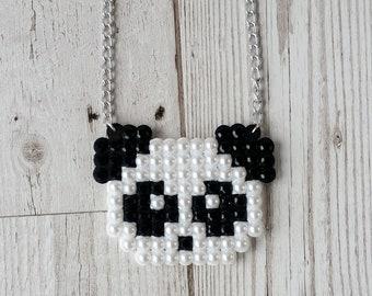 Black Kawaii Panda Necklace