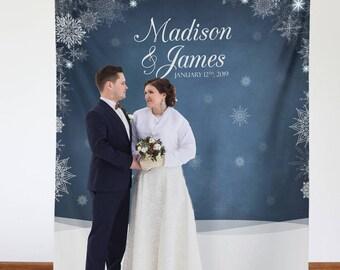 Elegant Winter Wedding/Engagement Backdrop / W-A33-TP LIN1 AA3