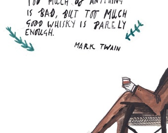Mark Twain Whisky Quote