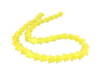 40 stars yellow cat's eye beads
