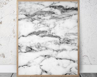 Marble Print, Gray Wall Decor Printable Art, Home Decor, Marble Wall Art, Marble Poster, Black and White, Scandinavian Print, Abstract Print