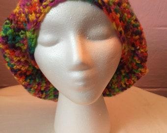 Crochet Rainbow Super Slouchy Hat/Beanie