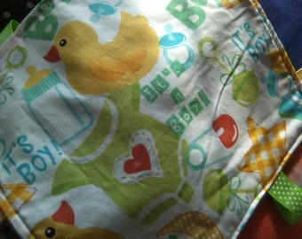 Tag Blanket- Boys Duckie