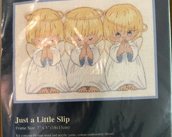 Just a Little Slip Tiny Angels Crewel Kit by Sunset Jiffy