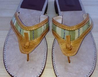 Handmade Guatemalan slip on leather sandals