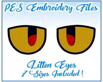 PES Litten Eyes Embroidery Files Instant Download- other formats available!