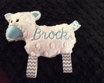 Lamb, Personalized Toy, Minky Toy