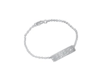 Love Is Blind Braille bracelet with diamonds