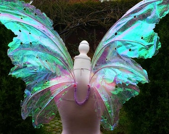 Large Realistic Iridescent Adult Fairy Wings