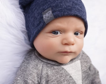 Ultra Soft / Best Selling Navy Blue Beanie / Cozy and Soft / Sweater Knit Beanie Newborn to Adult