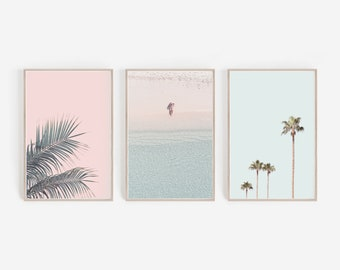 Set of 3 Prints,Large Wall Art,Pastel Wall Art,Pastel Prints,Printable Wall Art,Digital Prints,Pink,Home Decor,Art Prints,Set of 3,Wall Art