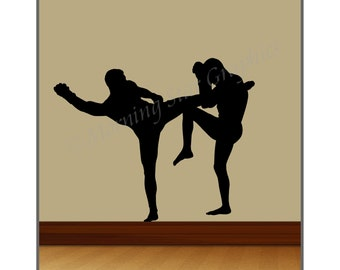 Vinyl Wall Decal MMA FIGHTERS SP-104