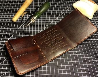 Walter Mitty wallet / Full grain leather wallet / Customization wallet / Handmade leather wallet