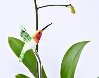 Glass Hummingbird indoor Plant support