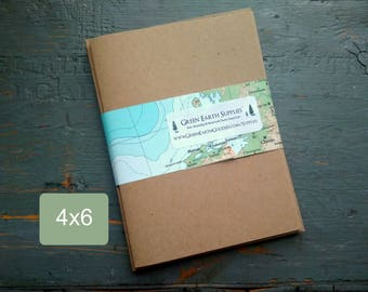 """100 4 x 6"""" Kraft or Light Brown Folded Cards & Envelopes, 100% Recycled, Blank Greeting/Photo Cards/Invitations, 4x6"""", 65-105lb"""