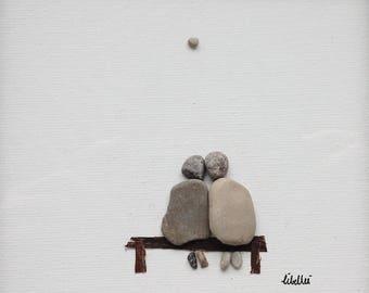 25 x 25 cm Libellei stone art Togetherness