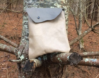 Recycled Leather Medium Pouch