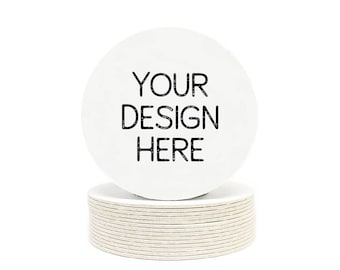Your Custom Design Heavyweight Paper Coasters - Logos, Office, Weddings, Engagement Party, Shower, Birthday or any Special Event