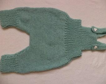 Bib shorts 74/80 wool pants baby trousers pants knitted