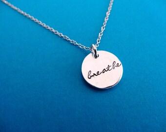 Breathe Necklace - Breathe - Small Charm Pendant