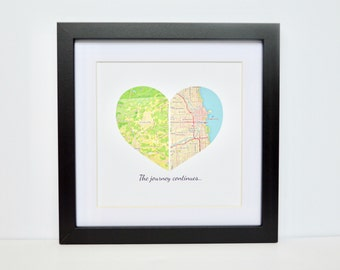Graduation Gift- Unique gift for graduate, school location, hometown, new job, college decor, relocating, new home decor