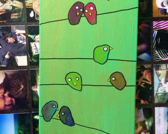 A Dozen Dilemmas, a painting for people who like birds & problems