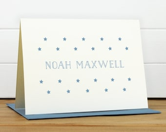 GALAXY Personalized Stationery Set - Personalized Stationary Set - Custom Personalized Notecard Set - Star New Baby Gift Kids Stationery