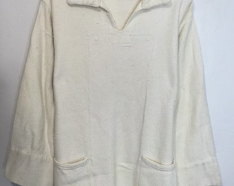 70's vintage mexican pullover cotton jacket one size