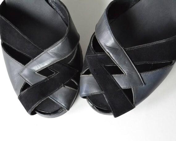pumps vintage 1940s 40s shoes grey vintage heels heels shoes 40s black pumps 1940s 40s pumps 40s black 1940s 1940s heels black nUZvx