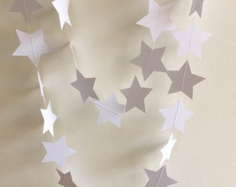 White Star Garland, Decor, Party Decor, Weddings, Celebrations