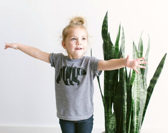 Little Bear Toddler Tee • Unique Kids Clothes • Hand Lettered Bear Design • Unique Little Bear Clothes for Brother or Sister • FREE SHIPPING