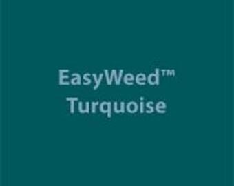 "Turquoise Siser EasyWeed Heat Transfer Vinyl 12"" x 15"" | Vinyl for T-Shirts"