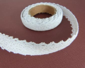 Roll of adhesive white lace, scrapbooking