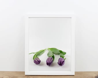 Purple Tulip Photography Print / Wall Art / Home Decor / Printable / Printable Wall Art / You Print / Minimalist Digital Art / Dorm Decor