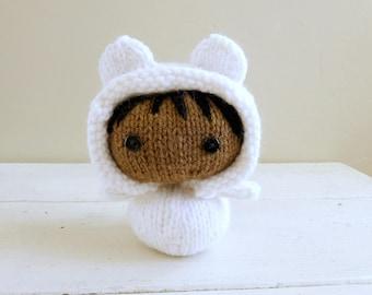 Cute Stuffed Animal, Cute Teddy Bear, Baby Doll, Ready to Ship, Teddy Bear Baby - Kristine