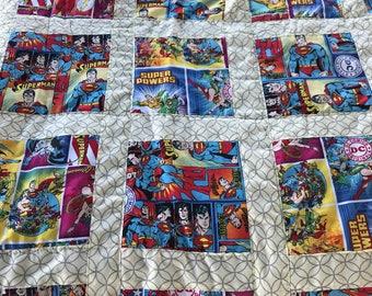 Superhero childrens patchwork quilt