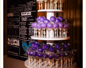 3 Tier Round Custom Made Cake Pop Stand. Holds 106 Cake Pops.
