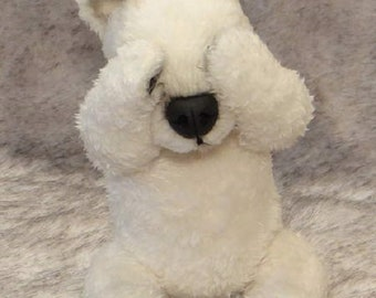 Sold. Christopher polar bear. Toy, little Dog, bear , dog, plush dog, plush toy, teddy polar bear