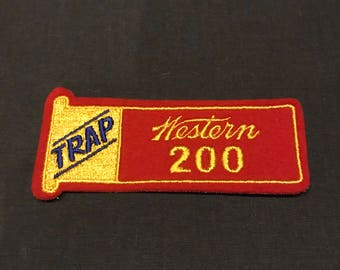 Deadstock Original Vintage Trap Western 200 Trap Shooting Awards Patch