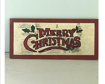 Merry Christmas Sign  Painting- Merry Christmas