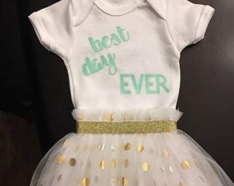 Best Day Ever Newborn take me home outfit!