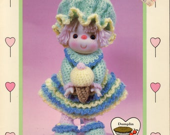 "Sherbert Ice  ""Lollipop Lane"" Crochet Pattern by Dumplin Designs - CDC402"