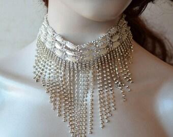 Wedding Jewelry for Brides, Rhinestone and Pearl, Bridal Jewelry Necklace, Wedding Necklace Bridal Jewelry